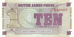 BRITISH ARMED FORCES 🌎💷 10 Pence PM - 48 💷🌎 UNC from 1972 - Busy Bee Emporium