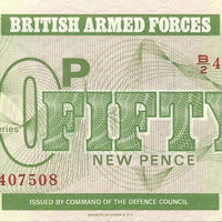 BRITISH ARMED FORCES 🌎💷 50 Pence PM - 49 💷🌎 UNC from 1972 - Busy Bee Emporium