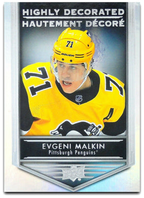 Tim Horton's Upperdeck Hockey Insert: Highly Decorated: HD - 11 Evgeni Malkin - Busy Bee Emporium