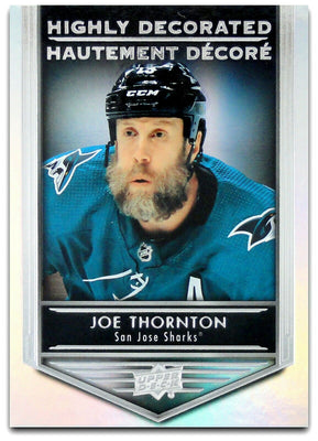 Tim Horton's Upperdeck Hockey Insert: Highly Decorated: HD - 12 Joe Thornton - Busy Bee Emporium