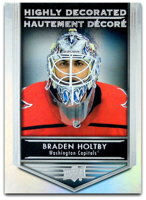 Tim Horton's Upperdeck Hockey Insert: Highly Decorated: HD - 14 Braden Holtby