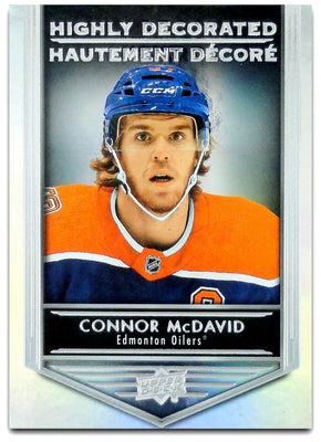 Tim Horton's Upperdeck Hockey Insert: Highly Decorated: HD - 15 Connor McDavid