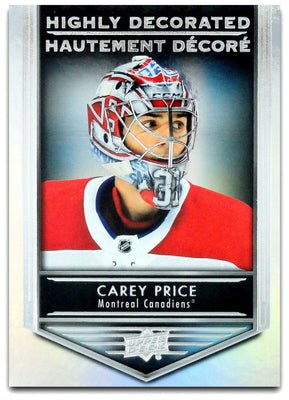 Tim Horton's Upperdeck Hockey Insert: Highly Decorated: HD - 3 Carey Price