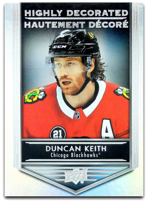 Tim Horton's Upperdeck Hockey Insert: Highly Decorated: HD - 5 Duncan Keith