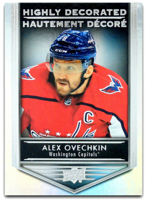 Tim Horton's Upperdeck Hockey Insert: Highly Decorated: HD - 8 Alex Ovechkin - Busy Bee Emporium