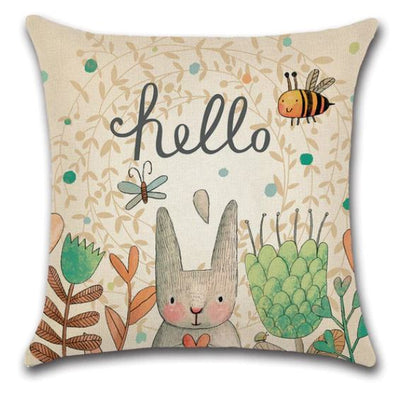 🐝 HELLO BEE PILLOW COVER 🐝 Package:1 PCS Cushion Cover - Busy Bee Emporium
