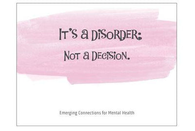 IT'S A DISORDER; NOT A DECISION Notecard (139mm x 107mm)