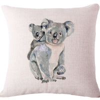 🐨KOALA BEAR & BABY 🐨COVER, Package:1 PCS Cushion Cover - Busy Bee Emporium
