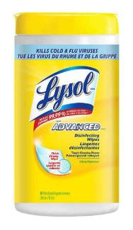 LYSOL DISINFECTING WIPES - ADVANCED - 80 WIPES
