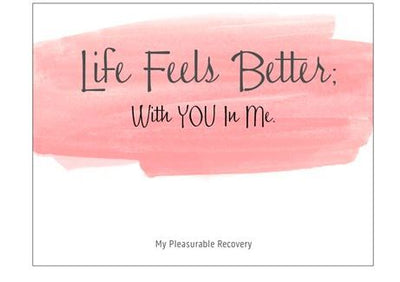 LIFE FEELS BETTER Notecard (139mm x 107mm)