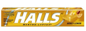 HALLS COUGH TABLETS - HONEY LEMON - 9 PIECES