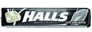 HALLS COUGH TABLETS - EXTRA STRONG MENTHOL- 9 PIECES