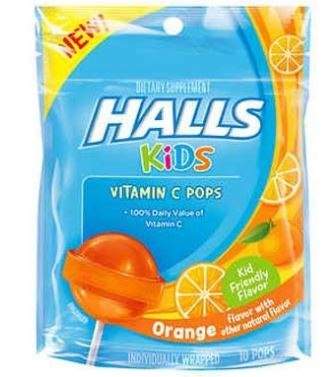 HALLS KIDS - ORANGE VITAMIN C DROPS