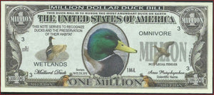 MALLARD DUCKS 🦆 Fantasy Note 💶 🦆 One Million 🦆 MALLARD DUCKS 🦆💶 Wildlife Series - Busy Bee Emporium