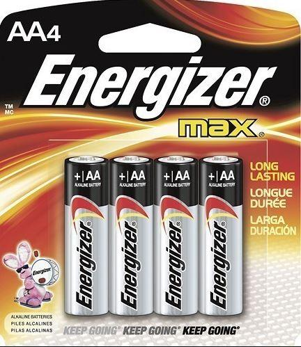 ENERGIZER MAX BATTERIES - AA - 4 PACK