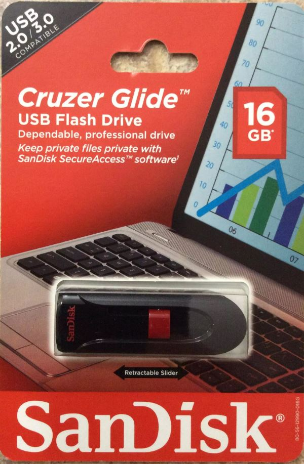 CRUZER GLIDE USB FLASHDRIVE 16gb