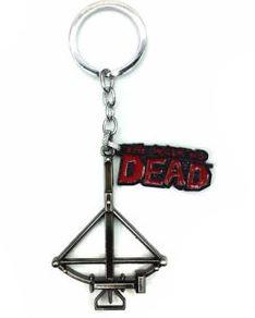 THE WALKING DEAD - CROSSBOW - KEY CHAIN - BRASS FINISH - Busy Bee Emporium
