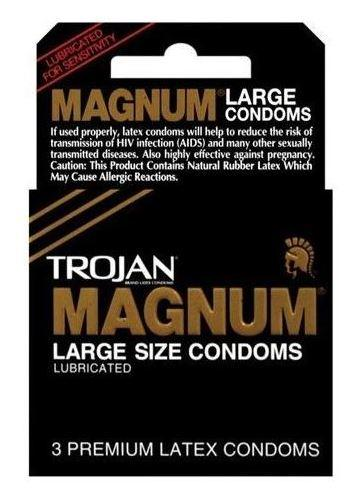 TROJAN ORIGINAL - MAGNUM LARGE CONDOMS 3 PACK