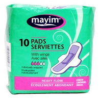 MAYIM SANITARY PADS - HEAVY FLOW with WINGS - 10 Pads