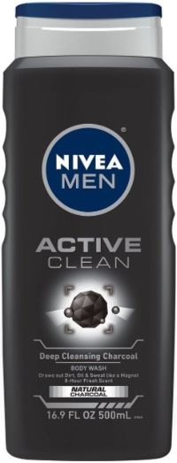NIVEA MEN - ACTIVE CLEAN SHOWER GEL - 500ml