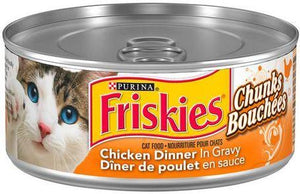 PURINA - FRISKIES - CHICKEN DINNER IN GRAVY - CHUNKS CAT FOOD 156g