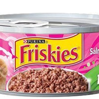 PURINA - FRISKIES - SALMON DINNER - PATE CAT FOOD 156g