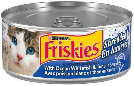 PURINA - FRISKIES - OCEAN WHITEFISH & TUNA - SHREDDED CAT FOOD 156g