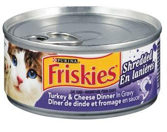 PURINA - FRISKIES - TURKEY & CHEESE DINNER - SHREDDED CAT FOOD 156g