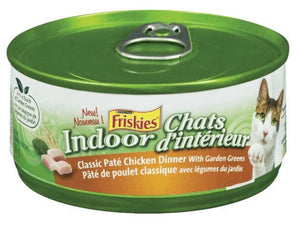 PURINA - FRISKIES - INDOOR CATS PATE CHICKEN DINNER CAT FOOD 156g