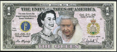 QUEEN ELIZABETH II 💶👑👑 Longest Reign 👑 Buckingham Palace 💶 - Busy Bee Emporium