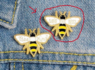 SAVE THE BEES PIN - 🐝 - Busy Bee Emporium