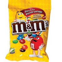 M&M PEANUTS- MILK CHOCOLATE CANDIES 120g
