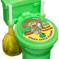 SOUR FLUSH CANDY PLUNGER AND TOILET - GREEN APPLE 39g