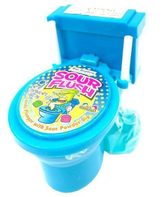 SOUR FLUSH CANDY PLUNGER AND TOILET- BLUE RASPBERRY 39g