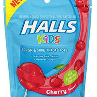 HALLS KIDS - COUGH & SORE THROAT POPS