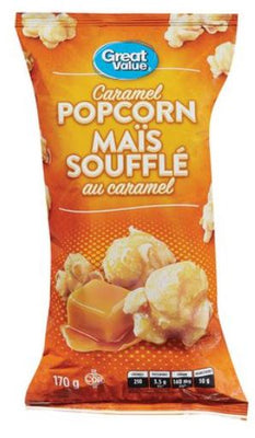 GREAT VALUE CARAMEL POPCORN 170g