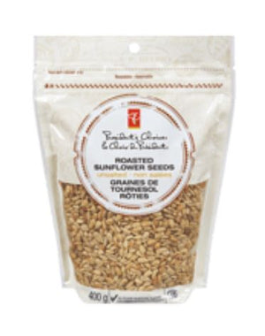 PRESIDENT CHOICE ROASTED SUNFLOWER SEEDS- UNSALTED 400g