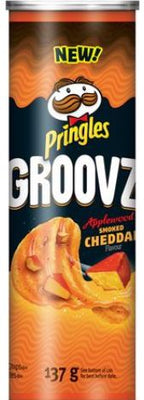 PRINGLES GROOVZ - APPLEWOOD SMOKED CHEDDAR 137g
