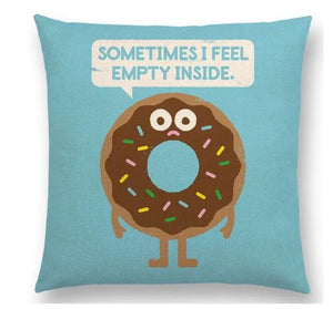 SOMETIMES I FEEL EMPTY INSIDE PILLOW COVER, Package:1 PCS Cushion Cover - Busy Bee Emporium