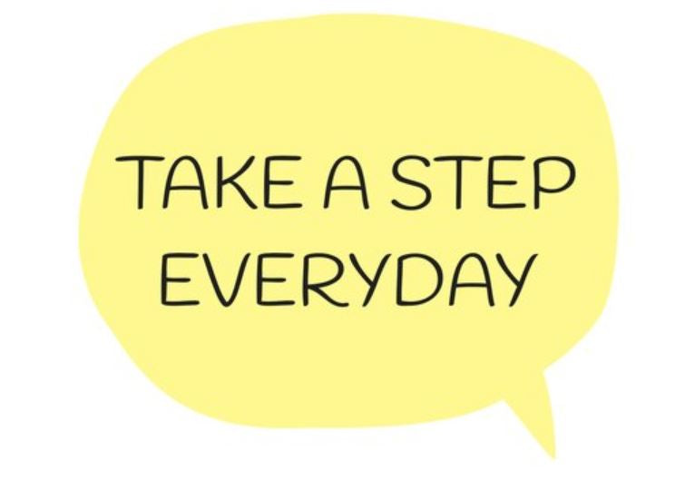 TAKE A STEP EVERYDAY – A Creation By 🐝 Bee's Postcards - Busy Bee Emporium