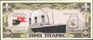 MEMORIAL RMS TITANIC 🚢 Million Dollar Fantasy Bank Note 💵 White Star Line 🚢 - Busy Bee Emporium