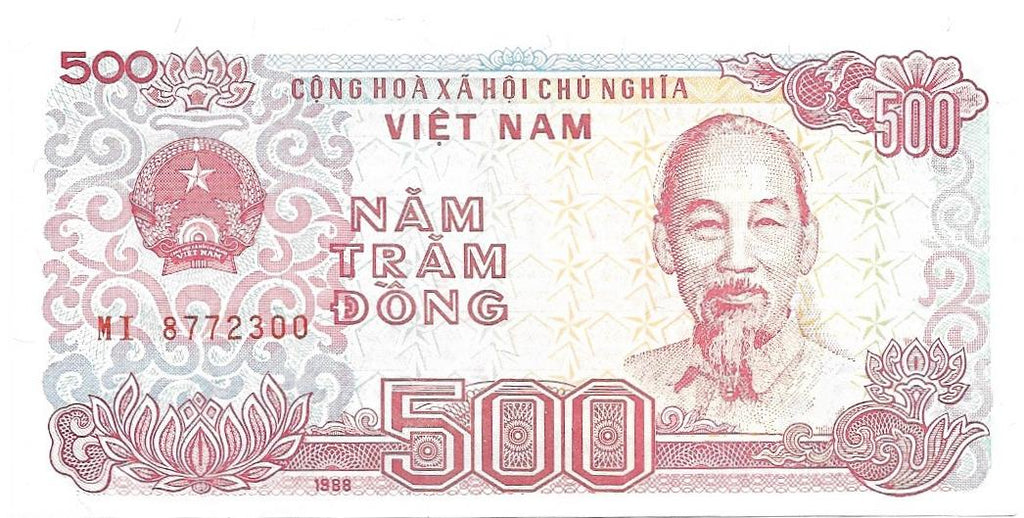 VIET NAM 500 Dong P- 101a 🌎💴 UNC;1988 💴🌎 H.C. Mign; Boats at Dock - Busy Bee Emporium