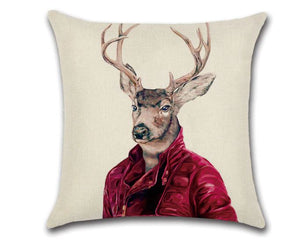 🦌BUCK IN RED VELVET PILLOW COVER, Package:1 PCS Cushion Cover - Busy Bee Emporium