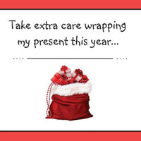 TAKE EXTRA CARE WRAPPING 🎅🎅 A Creation By 🐝 Bee's Postcards 🐝 - Busy Bee Emporium