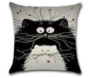 😻 CAT PARENTING PILLOW COVER, Package:1 PCS Cushion Cover