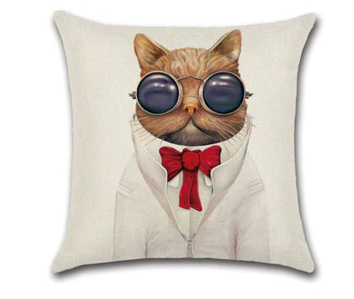 😻 CAT GLASSES PILLOW COVER, Package:1 PCS Cushion Cover - Busy Bee Emporium