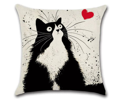 😻 CAT LOVE PILLOW COVER, Package:1 PCS Cushion Cover