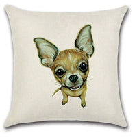🐶CHIHUAHUA PILLOW COVER, Package:1 PCS Cushion Cover