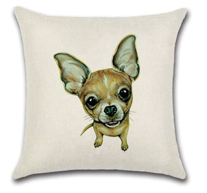🐶CHIHUAHUA PILLOW COVER, Package:1 PCS Cushion Cover - Busy Bee Emporium