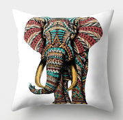 🐘 COLORFUL ELEPHANT PILLOW COVER - Package:1 PCS Cushion Cover 🐘 - Busy Bee Emporium